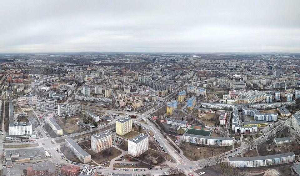 centrum wrocławia - panorama