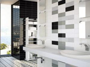 stylowe cegiełki w łazience
