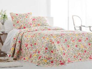 fajna kolorowa narzuta na łóżko