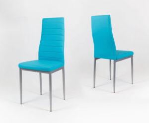 niebieskie krzesła do jadalni