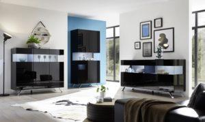 nowoczesne meble w salonie